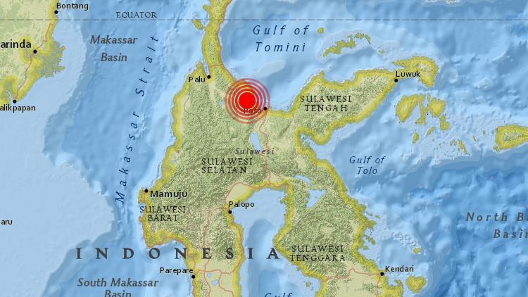 Un fuerte terremoto de magnitud 6,6 sacude Indonesia