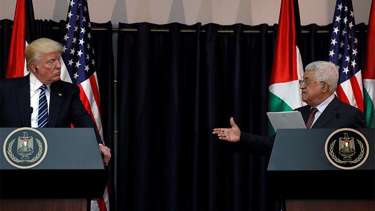 """¡Me engañaste!"": ¿Abroncó Trump a gritos al presidente palestino?"