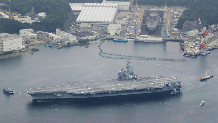 Dos portaviones estadounidenses ejecutarán maniobras sin precedentes en el mar del Japón