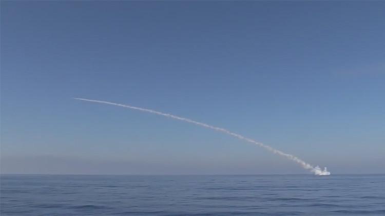 Publican un video del lanzamiento de misiles rusos contra el Estado Islámico en Palmira