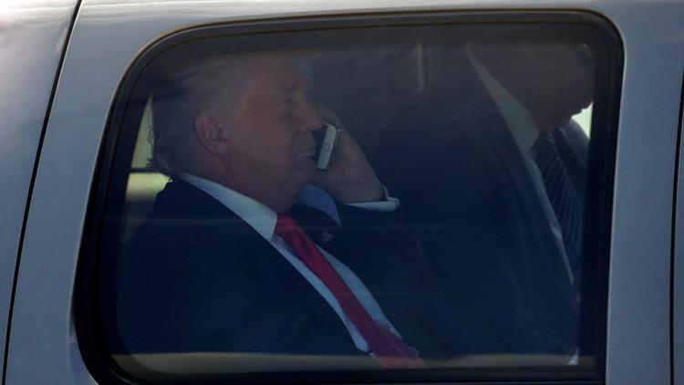 Trump pide a presidentes que lo llamen a su celular