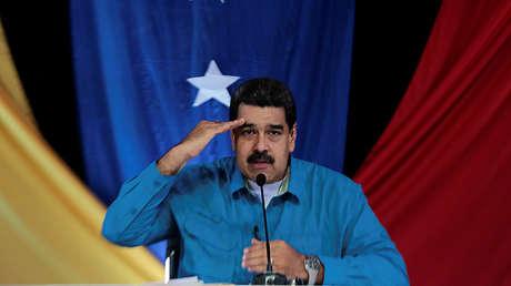 Nicolás Maduro durante la emisión del programa 'Los Domingos con Maduro' en Caracas, el 30 de abril de 2017.