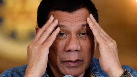 Rodrigo Duterte en una rueda de prensa (Manila, Filipinas), el 29 de enero de 2017.