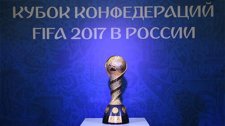 El trofeo de ganadores de la Copa FIFA Confederaciones 2017