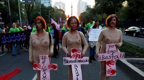 Protesta contra la violencia que sufren las mujeres, el 25 de noviembre de 2016.