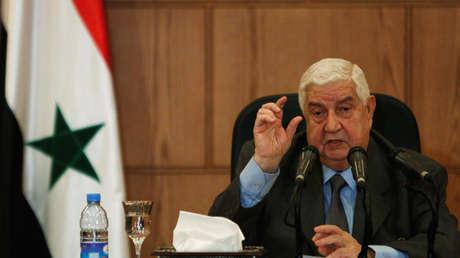 El ministro de Exteriores sirio Walid Mualem