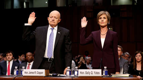 James Clapper, exdirector de la Inteligencia Nacional de EE.UU., y Sally Yates, exfiscal general