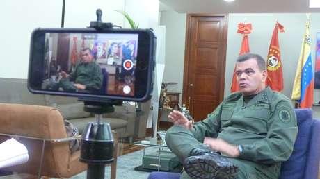 El Ministro de la Defensa de Venezuela, General en Jefe Vladimir Padrino López en entrevista con RT
