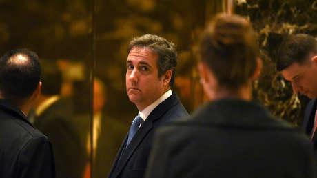 Michael Cohen, el abogado personal del presidente Donald Trump, en la Torre Trump en Nueva York, EE.UU., 17 de enero de 2017