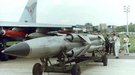 Misil Moskit en la edición de 1999 del salón aeronáutico MAKS en Zhukovski (provincia de Moscú)