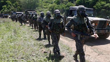 Soldados surcoreanos en el condado de Yeoncheon, el 16 de mayo de 2013.