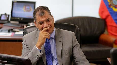El presidente de Ecuador, Rafael Correa, en Guayaquil, el 18 de febrero de 2017.