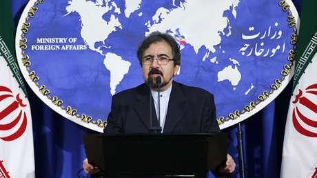 Portavoz del Ministerio de Relaciones Exteriores de Irán, Bahram Ghasemi.