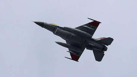 Un avión de combate egipcio