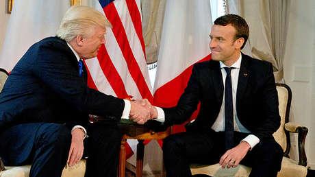 El presidente de EE.UU., Donald Trump, y su homólogo francés, Emmanuel Macron.