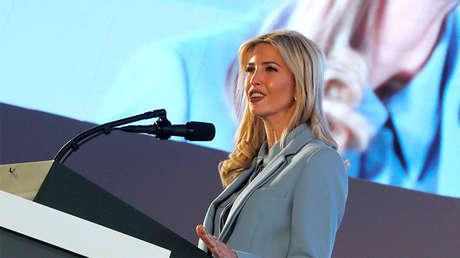Ivanka Trump habla durante una conferencia en Riad, Arabia Saudita, el 21 de mayo de 2017.