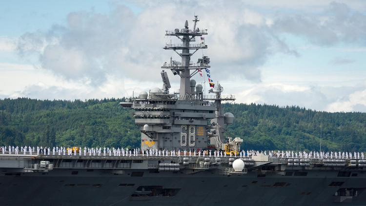 Un tercer grupo de combate de la Armada de EE.UU. zarpa rumbo al Pacífico