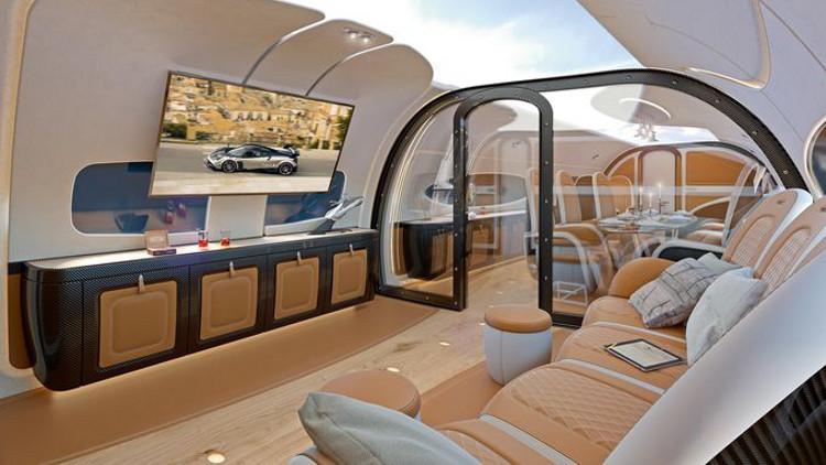 Airbus y Pagani exhiben la aeronave más lujosa del mundo