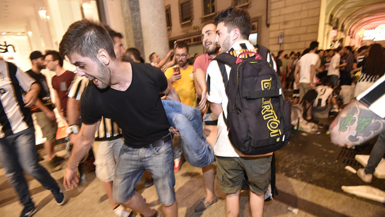 La broma pesada que habría causado más de 1.500 heridos en la 'fan zone' de la Juventus