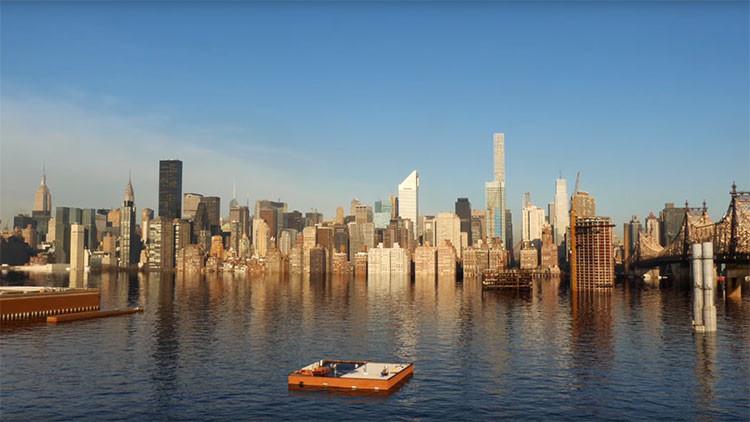 Video: Ecologistas simulan la inundación de Nueva York