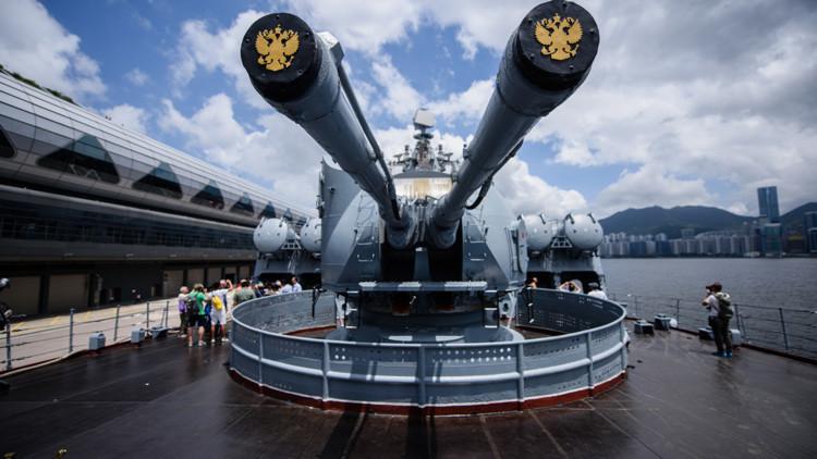 Video: El primer crucero de misiles ruso en Hong Kong se puede visitar