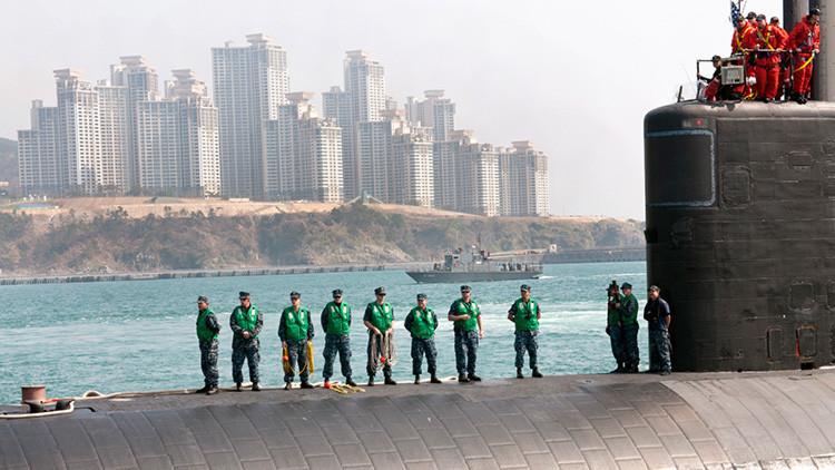 Un submarino nuclear de ataque de Estados Unidos llega a Corea del Sur (Video)