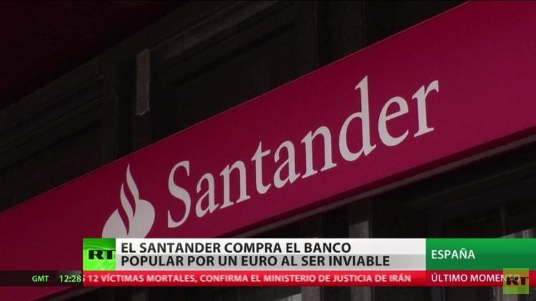 El Santander compra el Banco Popular por un euro