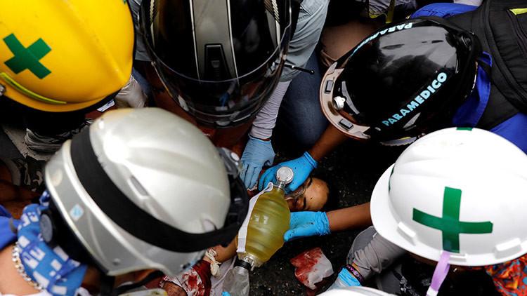 FUERTES IMÁGENES: Opositor venezolano muere al estallarle una bazuca de fabricación casera (+18)