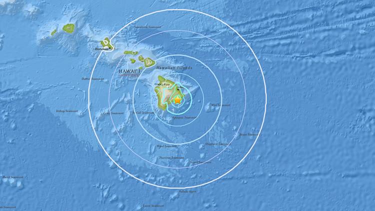 Terremoto de magnitud 5,3 en Hawái