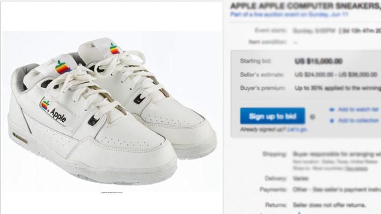 'Ni son Reebok, ni son Nike': Subastan zapatillas Apple por un precio inicial de 15.000 dólares