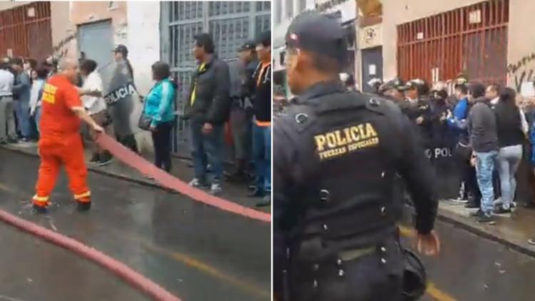 VIDEOS: Un fuerte incendio afecta un popular sector comercial de la capital peruana