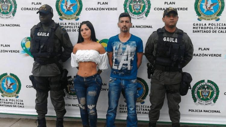 VIDEO: Detienen a modelo y presentadora colombiana acusada de participar activamente en un secuestro
