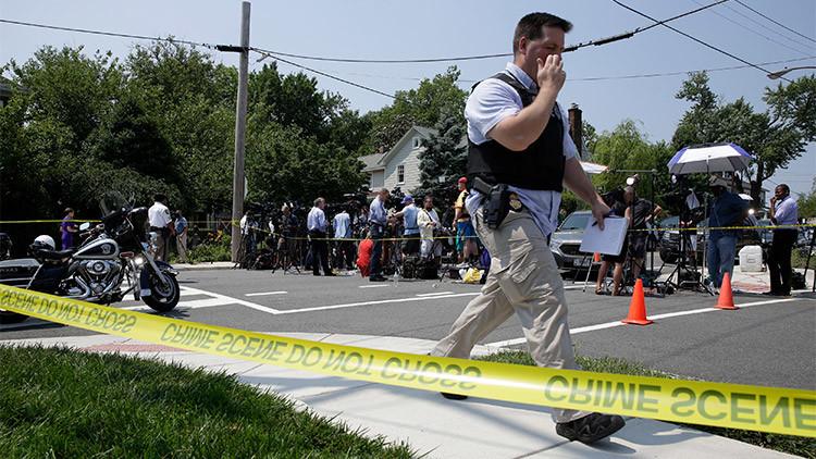 VIDEO: El momento exacto del tiroteo cerca de Washington D.C.
