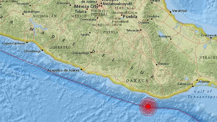 México: Un sismo de magnitud 5,5 sacude la costa de Oaxaca