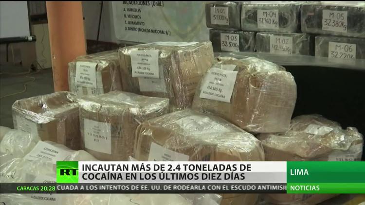 Perú incauta más de 2,4 toneladas de cocaína