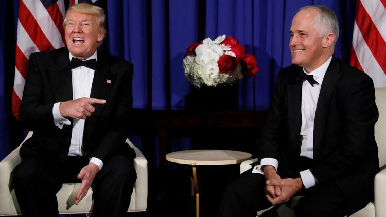 Filtran cómo el primer ministro de Australia realiza una parodia de Trump