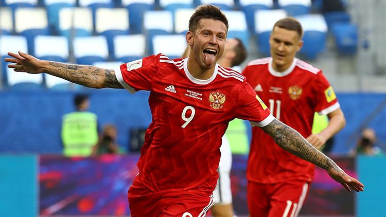 Rusia venció 2-0 a Nueva Zelanda en el partido inaugural de la Copa Confederaciones 2017