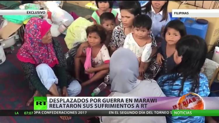Filipinas: Desplazados por la guerra en Marawi relatan sus sufrimientos a RT