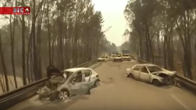 El devastador incendio de Portugal a vista de dron (VIDEOS)