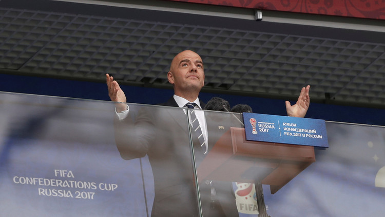 """Presidente de la FIFA: """"La organización de la Copa Confederaciones es magnífica"""""""