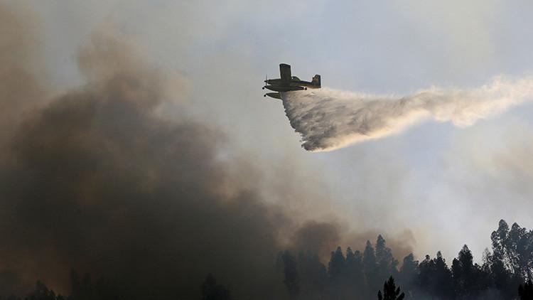 Se estrella una avioneta que combatía los incendios en Portugal