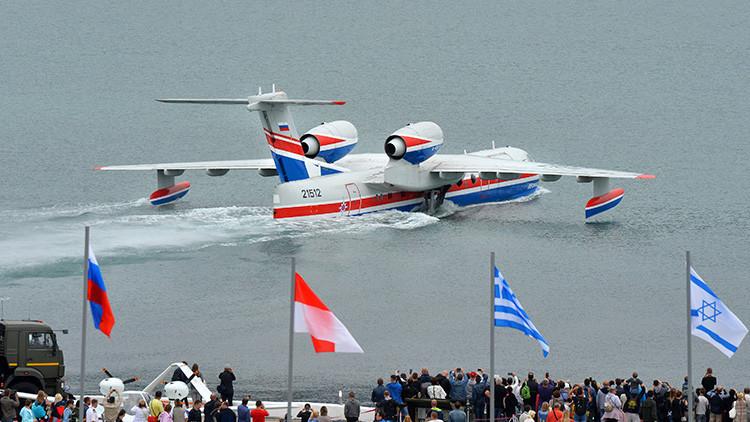 Argentina quiere comprar tres aviones anfibios rusos Beriev Be-200