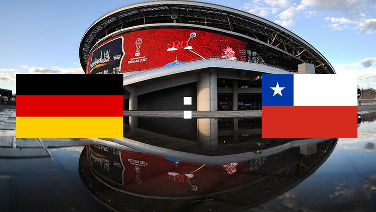 Alemania y Chile empatan en un parejo partido por la Copa Confederaciones