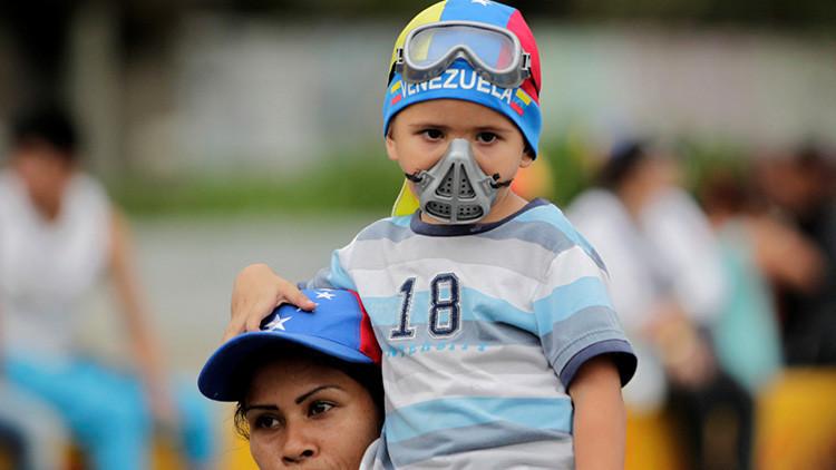 Unicef pide que se garantice la protección de niños en las protestas en Venezuela