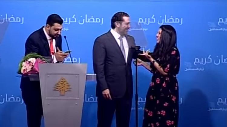 VIDEO: El primer ministro libanés pide la mano de una joven en directo (pero no para él)