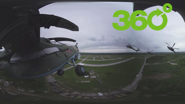 Berkut en 360°: Espectacular vuelo acrobático de la mítica escuadrilla rusa en su 25.° aniversario