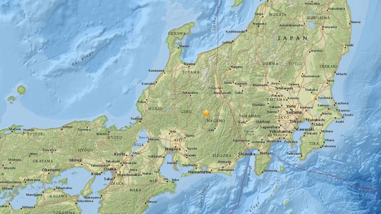 Un sismo de 5,7 se registra en el centro de Japón