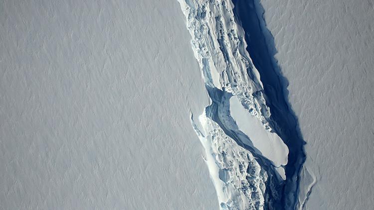 Fisura del hielo en la Antártida es algo natural, dice experto (+ Mapa)