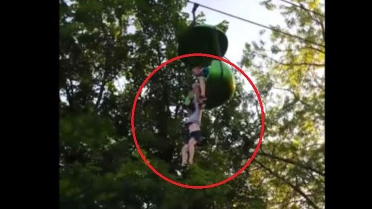 Video: el espeluznante momento en que una niña cae de una atracción en EE.UU.