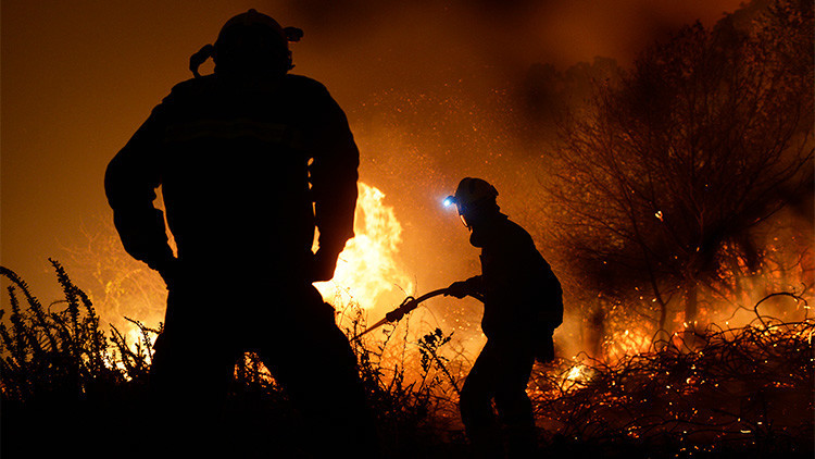 Imágenes dramáticas del devastador incendio en España (VIDEOS)